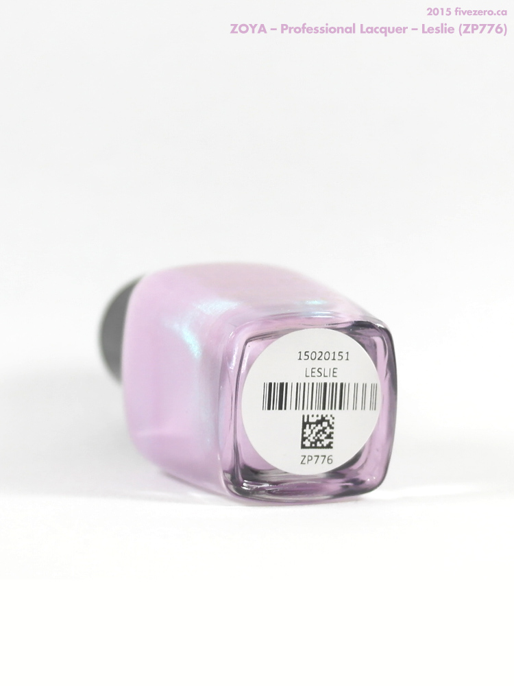 Zoya Professional Lacquer in Leslie, label