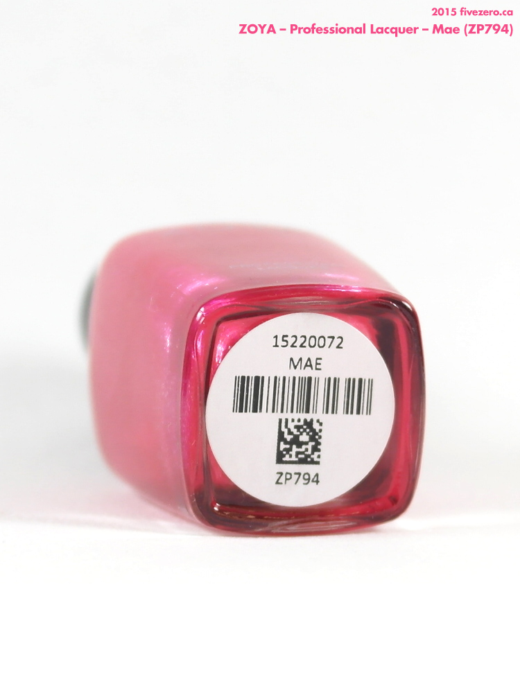 Zoya Professional Lacquer in Mae, label