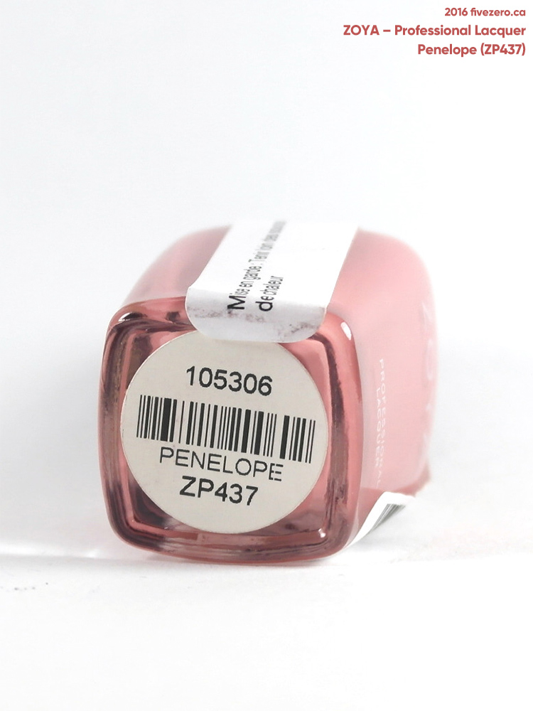 Zoya Professional Lacquer in Penelope, label