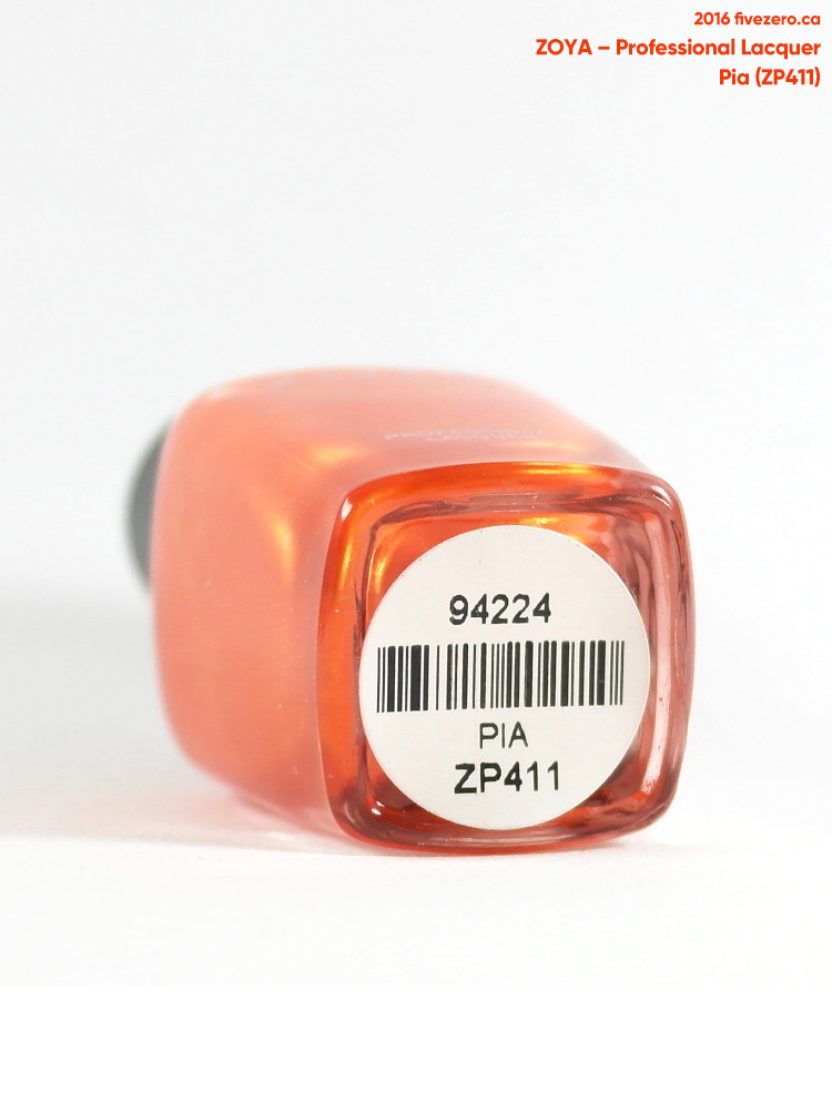 Zoya Professional Lacquer in Pia, label