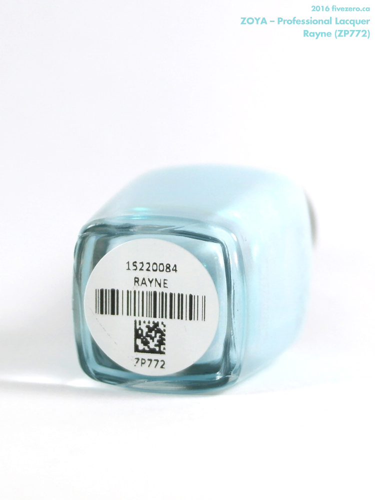 Zoya Professional Lacquer in Rayne, label