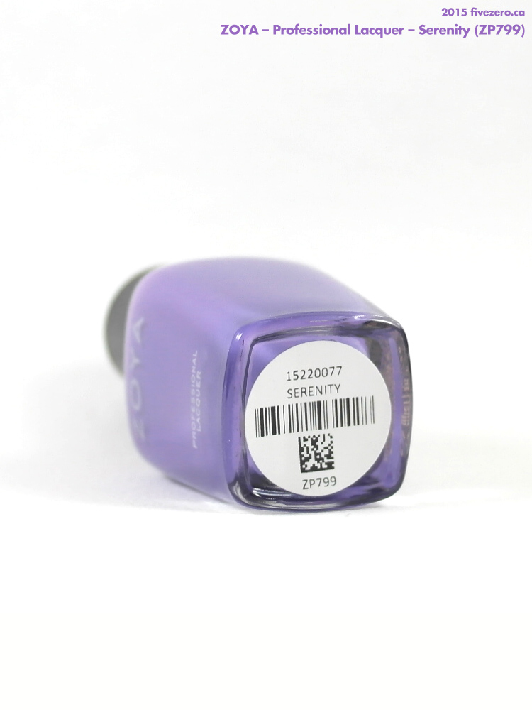 Zoya Professional Lacquer in Serenity, label