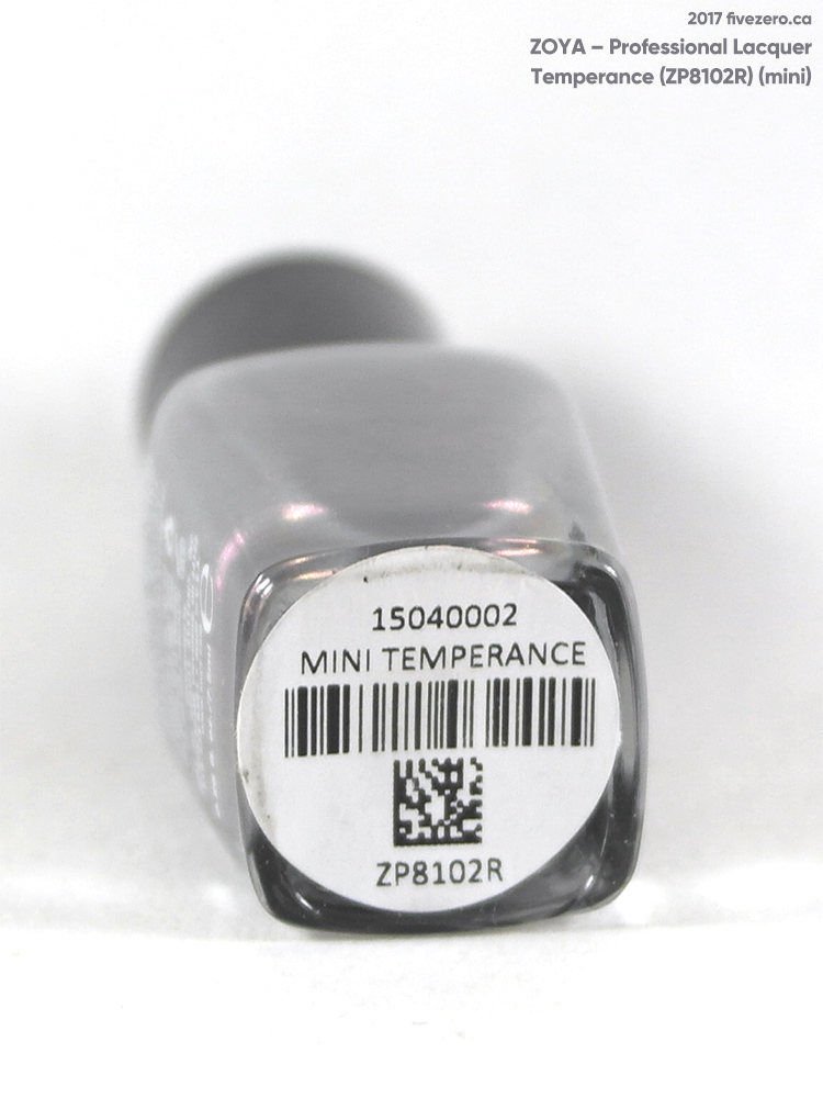 Zoya Professional Lacquer in Temperance (mini), label