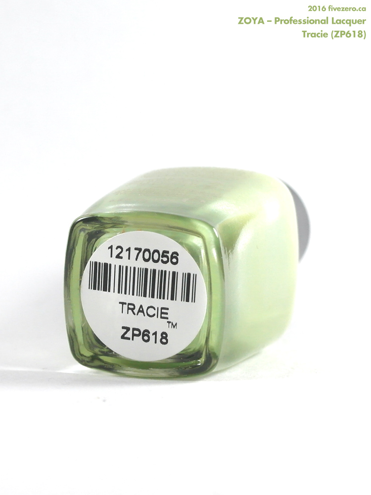 Zoya Professional Lacquer in Tracie, label