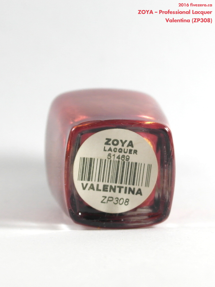 Zoya Professional Lacquer in Valentina, label