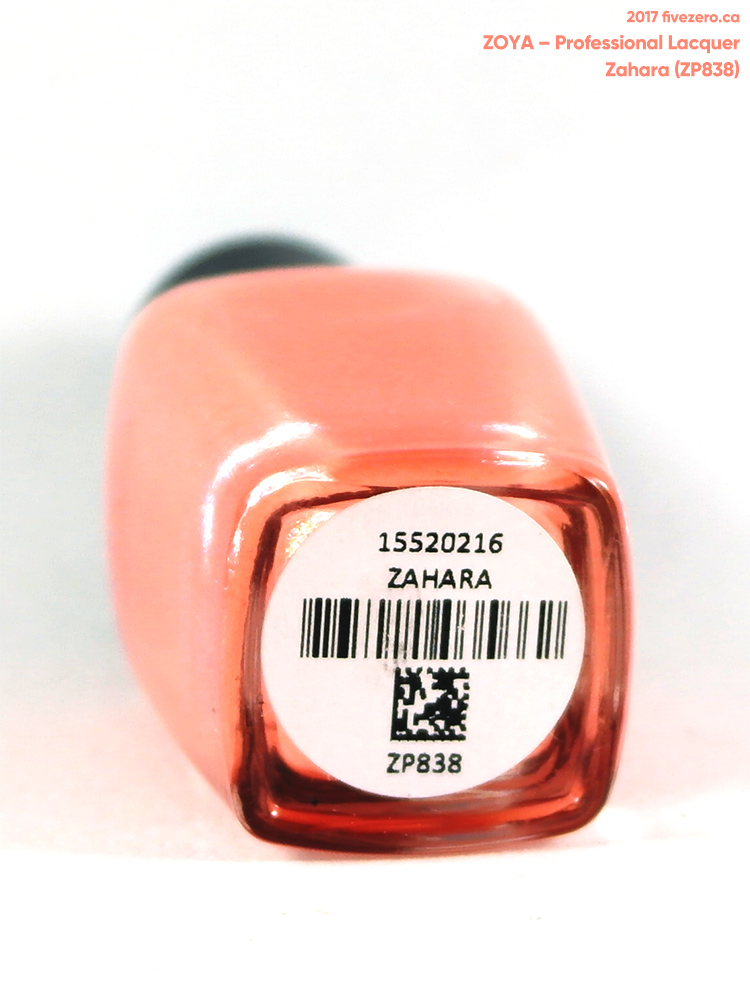 Zoya Professional Lacquer in Zahara, label