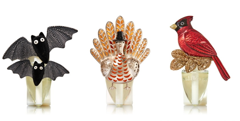 Bath & Body Works Wallflowers Home Fragrance Plugs in Fancy Bat, Turkey, and Winter Cardinal, 2016 Holidays