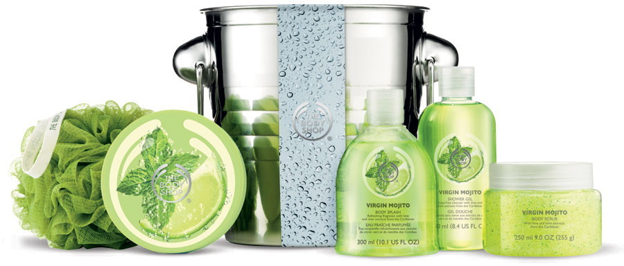 The Body Shop Virgin Mojito deluxe gift set with ice bucket