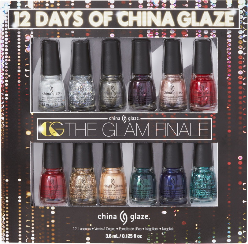 China Glaze 12 Days of China Glaze Mini Nail Lacquer Set, The Glam Finale collection Holiday 2017