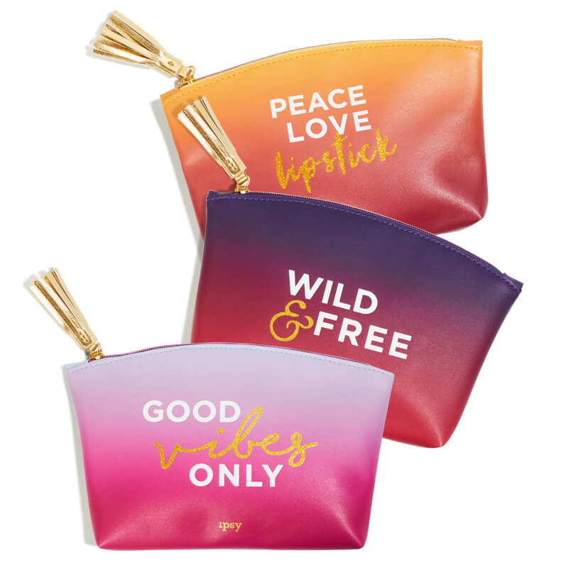 Ipsy Glam Bag variations, August 2017, Good Vibes Only