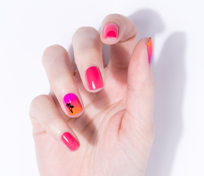 Julep Neon Nights (July 2017) Palm Tree Nail Decals