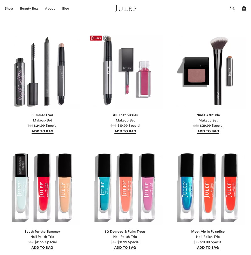 Julep Secret Sale sample, June 2017