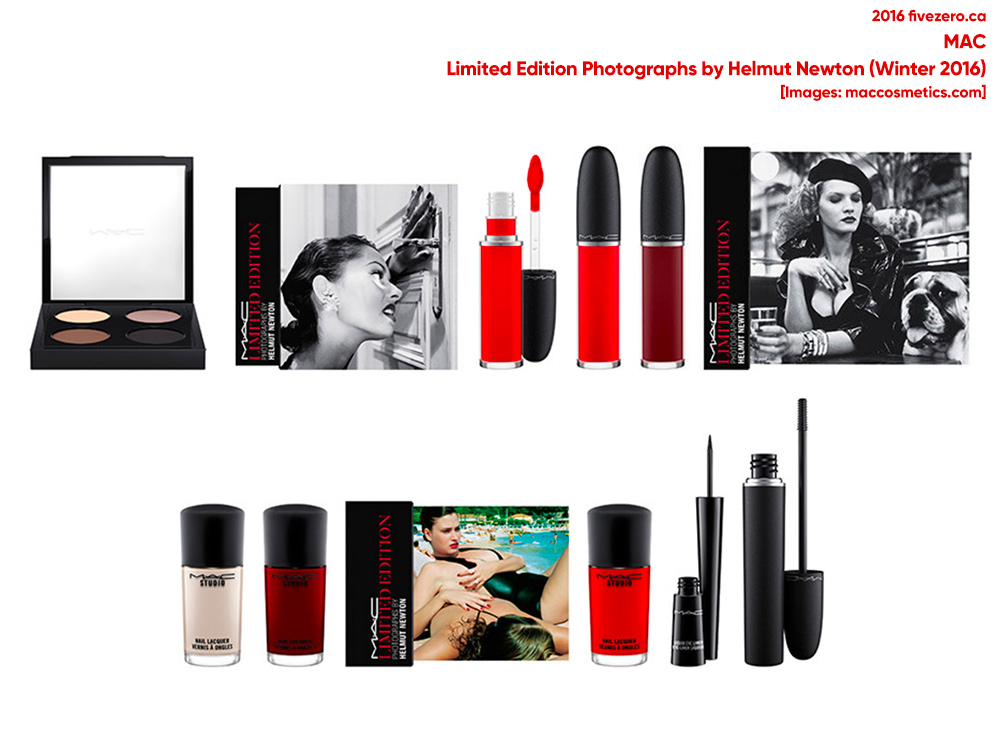 MAC, Limited Edition Photographs by Helmut Newton collection, Winter 2016