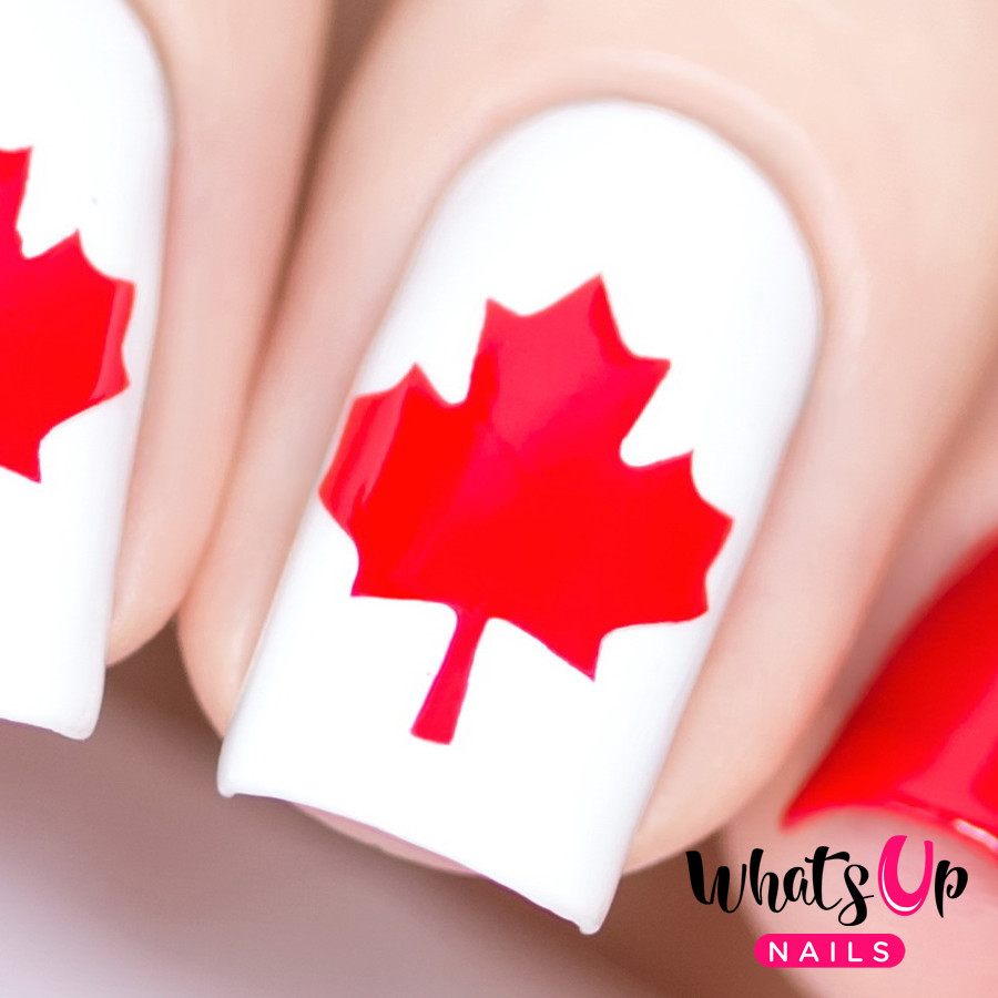 Nail Polish Canada free Canada Day Nail Vinyls by Whats Up Nails