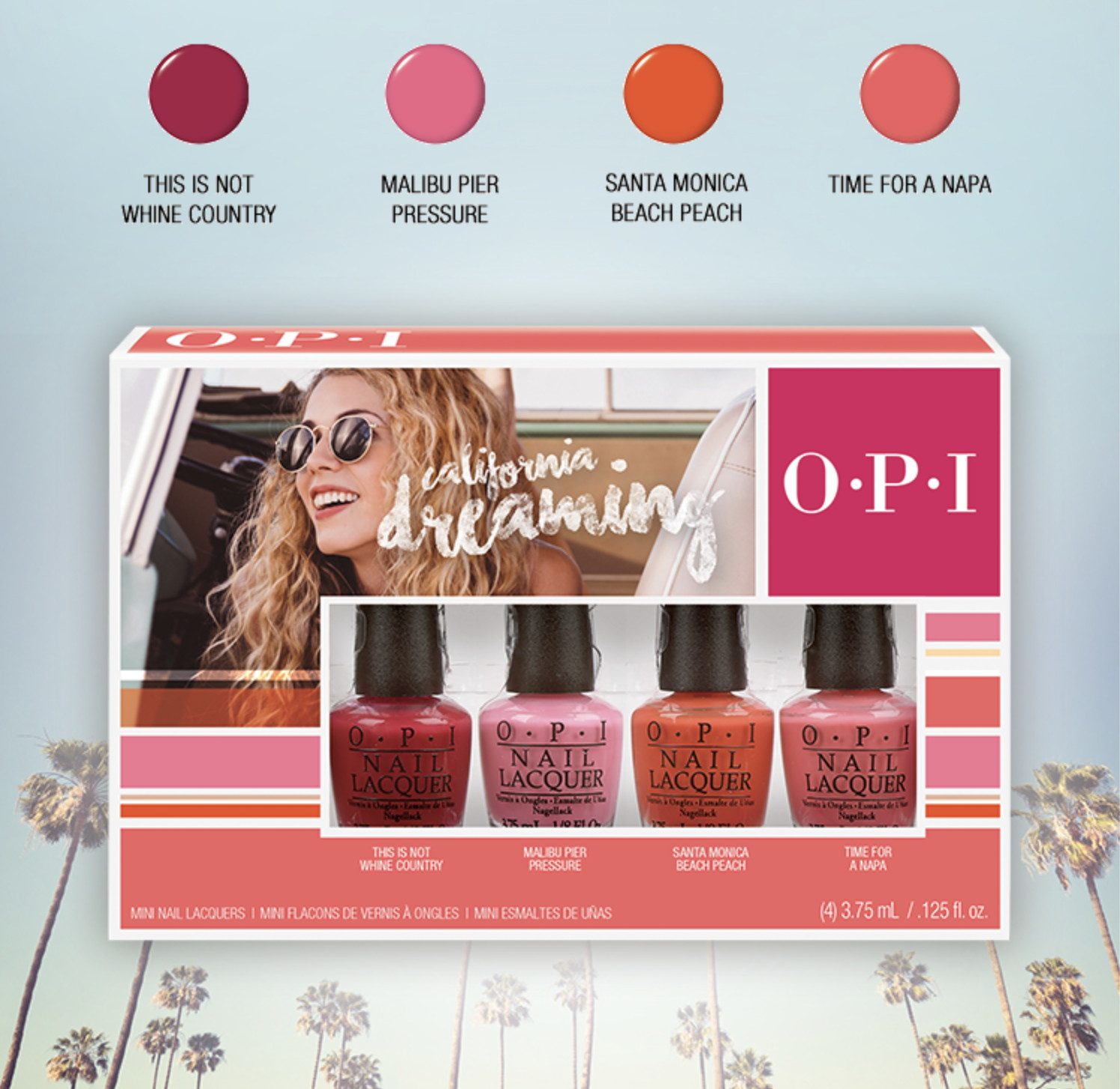 OPI California Dreaming collection minis, Summer 2017