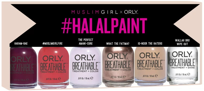 Orly x Muslim Girl #halalpaint nail polish collection (Summer 2017)