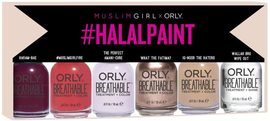 Orly x Muslim Girl #halalpaint nail polish collection (Summer 2017)