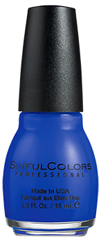 SinfulColors Nail Color in Endless Blue