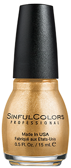 SinfulColors Nail Color in Gold Medal