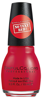 SinfulColors Nail Color in No Text Red