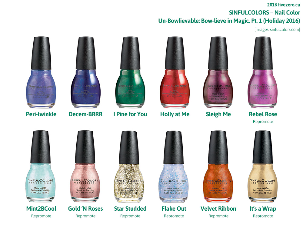 SinfulColors 2016 Holiday collection Un-Bowlievable: Bow-lieve in Magic