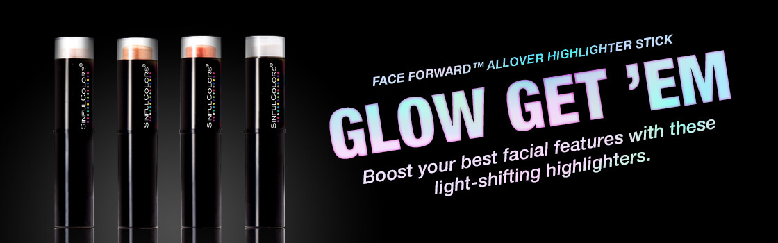 SinfulColors Makeup Launch, Face Forward Allover Highlighter Stick, Winter 2017