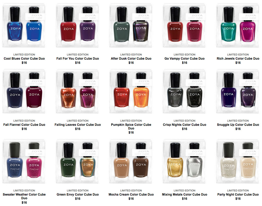 Zoya Color Cubes promo, September 2015