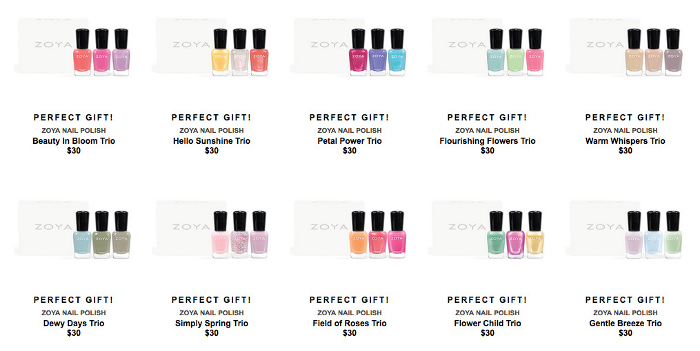 Zoya Spring Fling Trios promo, April 2016