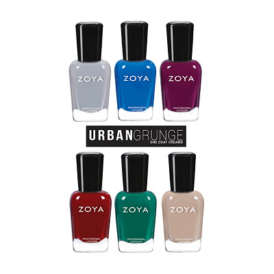 Zoya Urban Grunge (One Coat Creams) collection Fall/Winter 2016